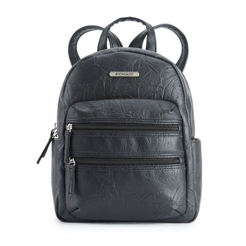 Stone & Co. Washed Leather Double-Entry Mini Backpack