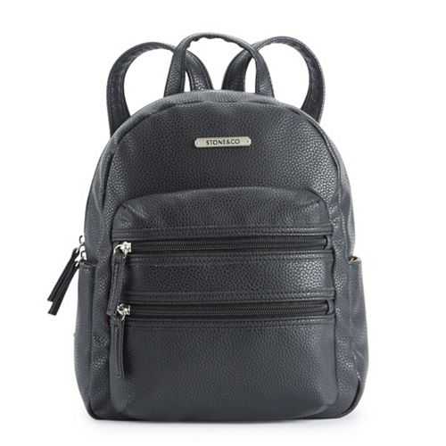 Stone & Co. Pebbled Leather Double-Entry Mini Backpack