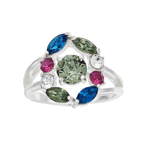 Brilliance Multicolor Cluster Ring with Swarovski Crystals