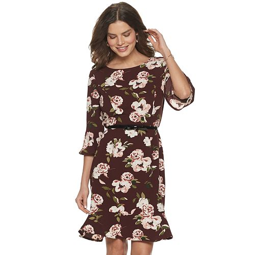 Women's Elle Bell Sleeve Flounce Dress