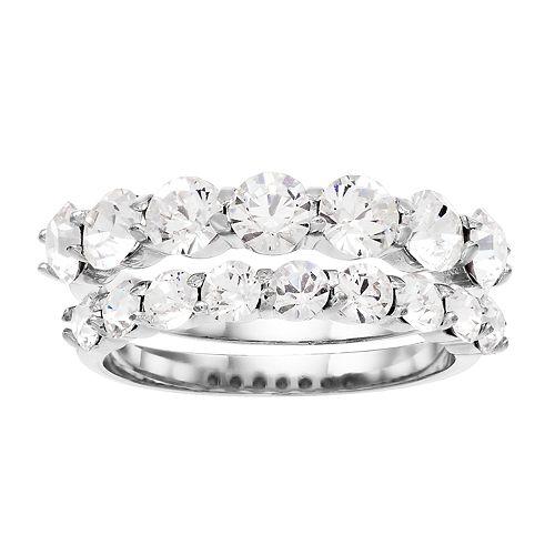 Brilliance Round Ring Set with Swarovski Crystals