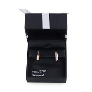 Sterling Silver 1/10 Carat T.W. Diamond J-Hoop Earrings