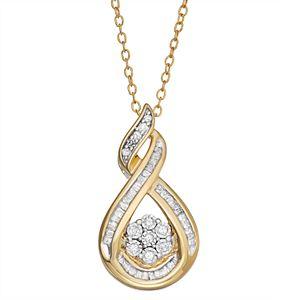 Sterling Silver 1/4 Carat T.W. Diamond Teardrop Pendant