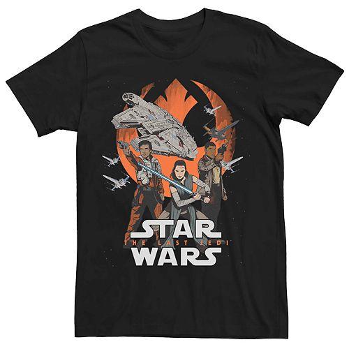 Men's Star Wars The Last Jedi Rebels Graphic T-shirt