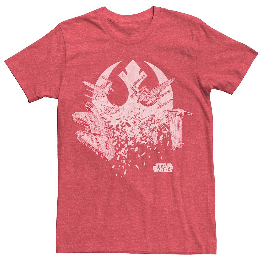 Men's Star Wars Rebel Ship Shatter Logo Tee