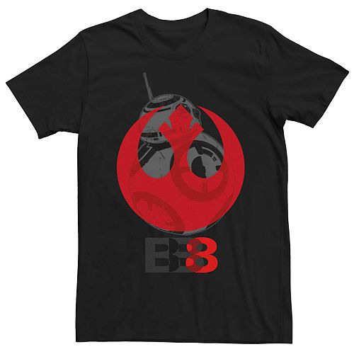 Men's Star Wars BB-8 Rebel Symbol Fill Tee