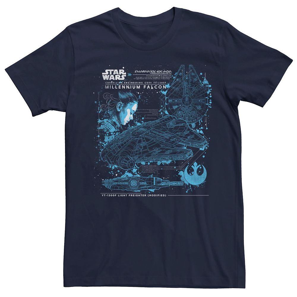 Men's Star Wars Rey Millennium Falcon Tee