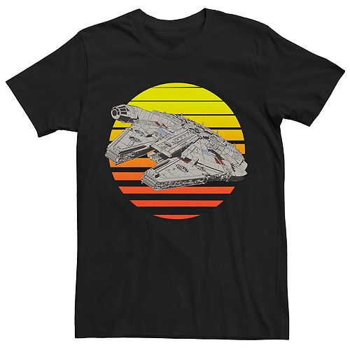 Men's Star Wars Millennium Falcon Retro Sunset Tee