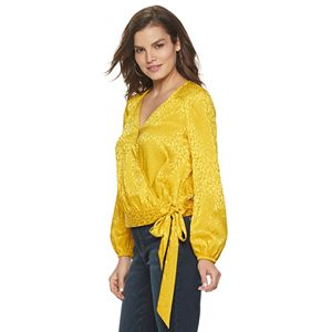 Women's Jennifer Lopez Wrap Front Blouse
