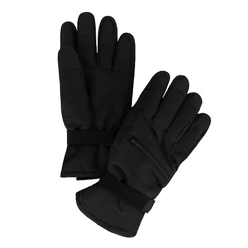 Men's Van Heusen Sport Pocket Mixed Media Touchscreen Snow Gloves