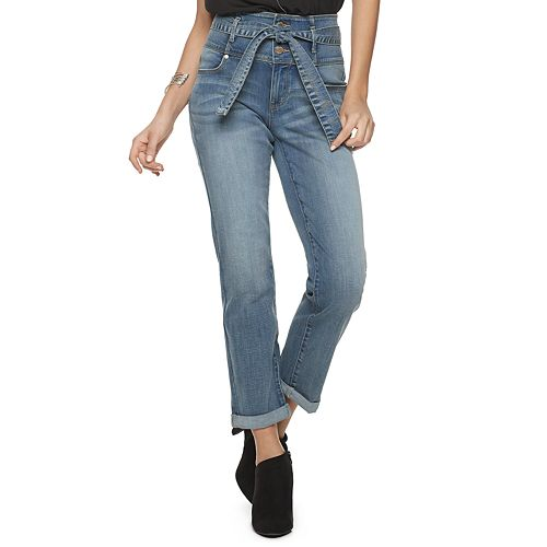 Women's Jennifer Lopez High Rise Tie Waist Jeans