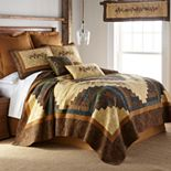 Donna Sharp Cabin Raising Pine Cone Quilt or Sham
