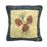 Donna Sharp Cabin Raising Pinecone Pillow