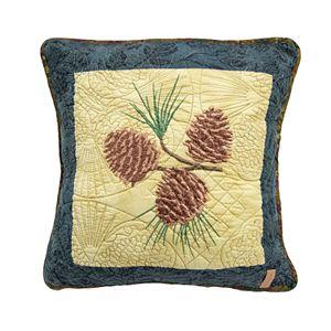 Donna Sharp Cabin Raising Pinecone Pillow