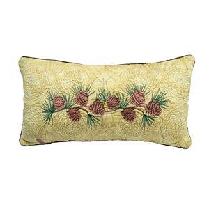 Donna Sharp Cabin Raising Pinecone Throw Pillow