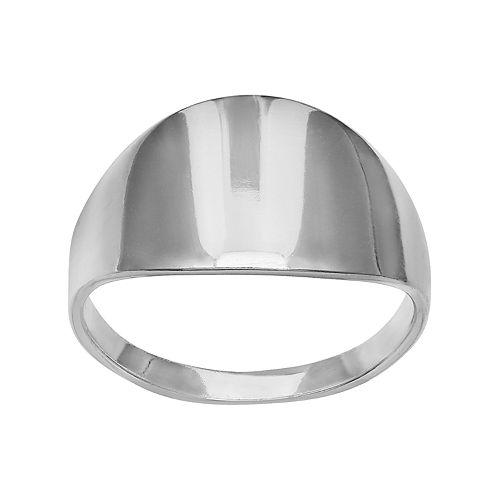 PRIMROSE Sterling Silver Flat Band Ring