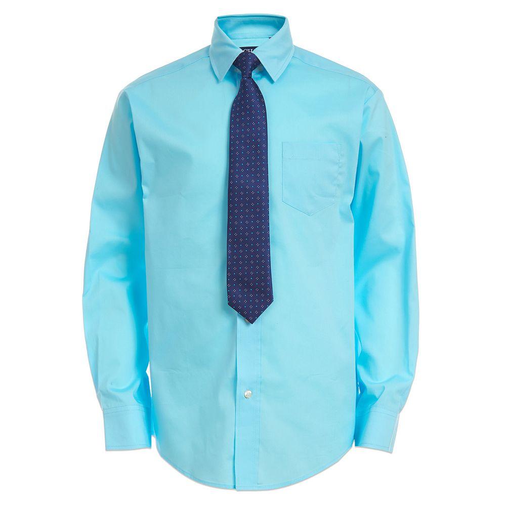 Boys 8-20 Chaps Button-Up Shirt & Tie Set