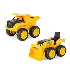 John Deere Construction Vehicle 2-Pc. Dump Truck & Tractor with Loader