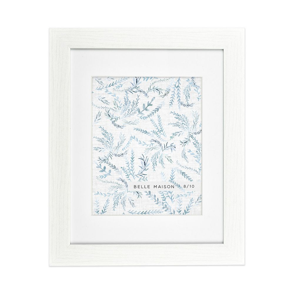 Belle Maison Distressed White Matted Frame