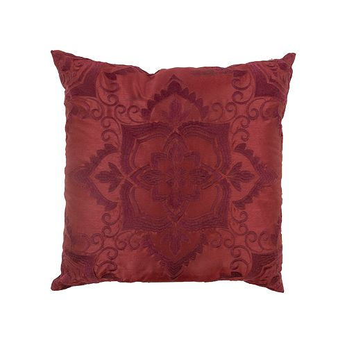 Donna Sharp Spice Postage Red Throw Pillow
