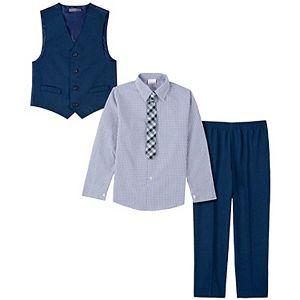 Boys 8-20 Van Heusen Button-Up Shirt, Vest, Pants & Tie Set