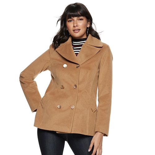 Women's Nine West Double-Breasted Peacoat