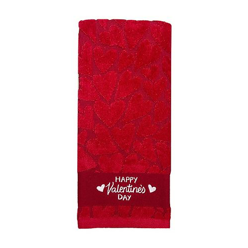 Celebrate Valentines Together Valentine's Day Hand Towel
