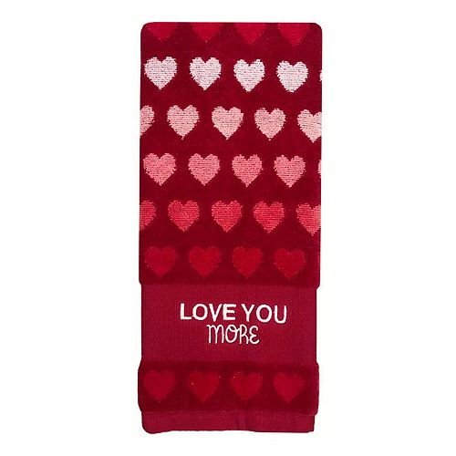 Celebrate Valentine's Together Hearts Hand Towel