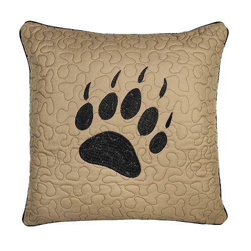 Donna Sharp Bear Walk Paw Pillow