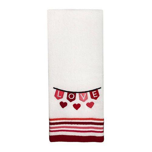 Celebrate Valentines Together Love Banner Hand Towel