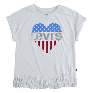 Girl's 7-16 Levi's® Fringe Americana Graphic Tee