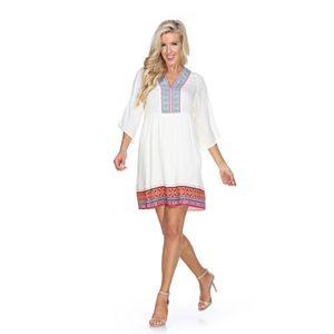 Women's White Mark Gabrielle Embroidered Dress