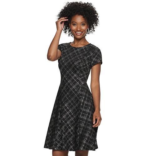 Petite ELLE™ Print Fit & Flare Dress