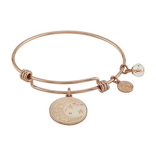 "LovethisLife® ""I Love You to the Moon and Back"" Bangle Bracelet"