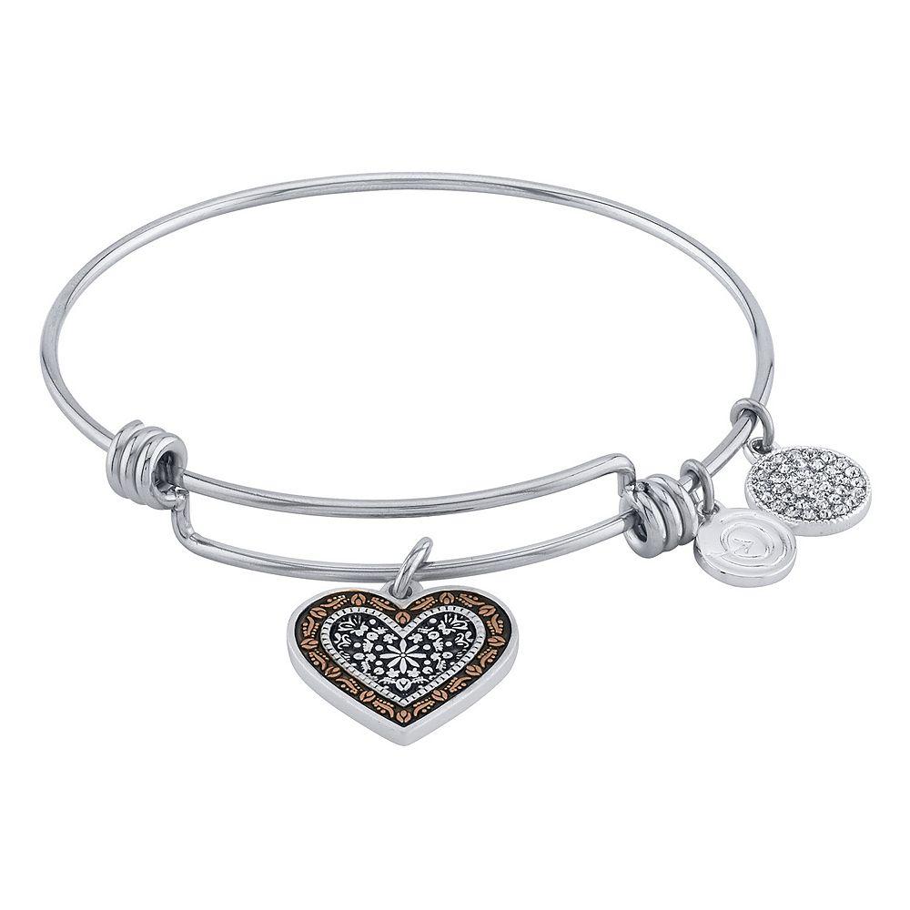 """LovethisLife® """"Mothers Love"""" Two-Tone Bangle Bracelet"""