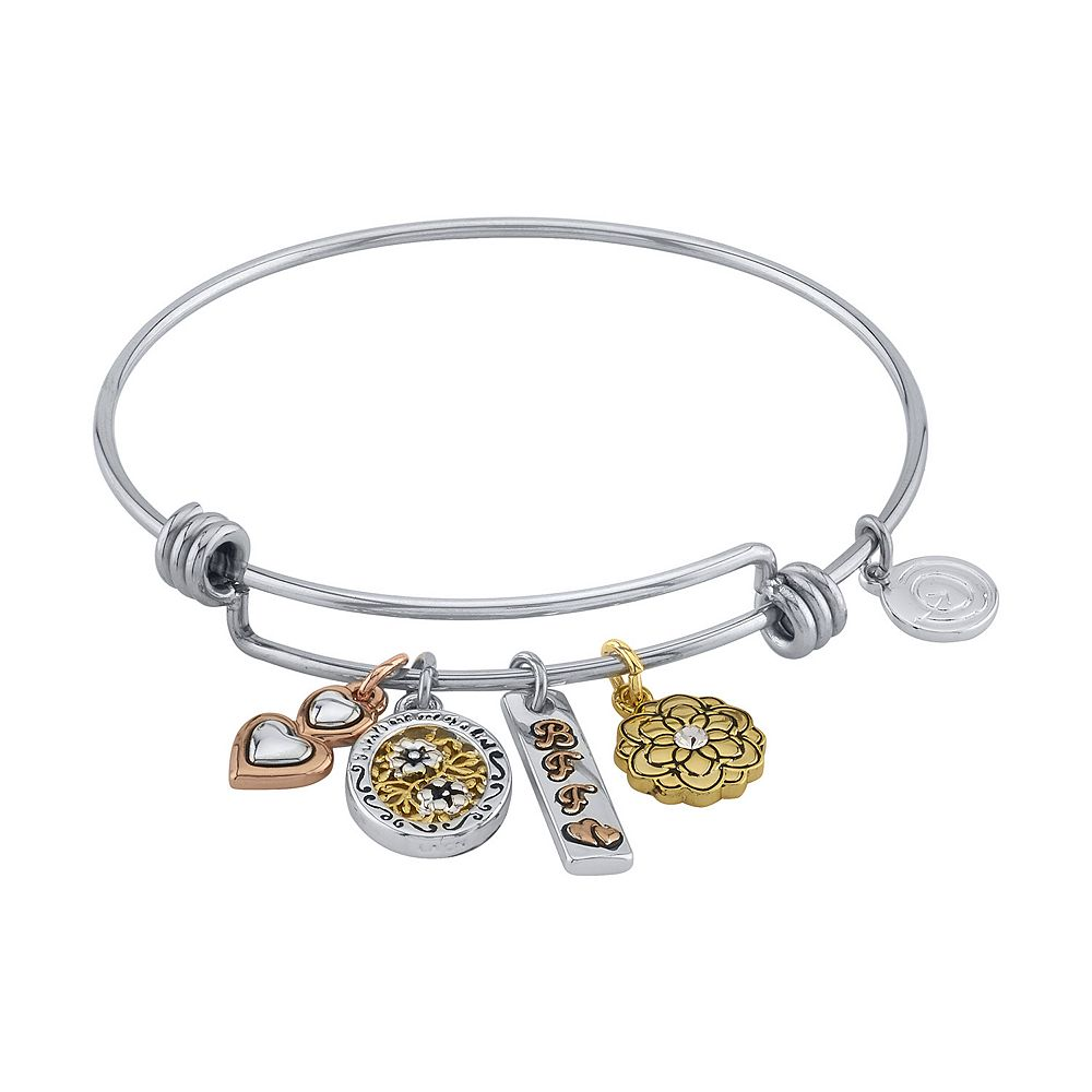 LovethisLife® Tri-Tone Friend Bangle Bracelet