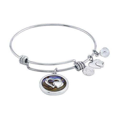 """LovethisLife® """" Friends Forever"""" Heart Bangle Bracelet"""