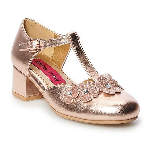 Rachel Shoes Racquel Girls' T-Strap Dress Heels