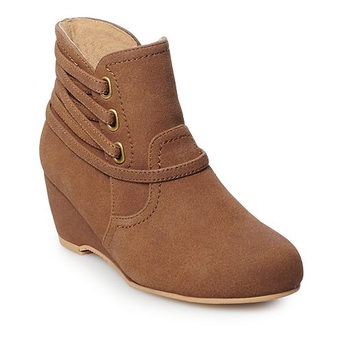 Rachel Shoes Anita Girls' Ankle Wedge Boots