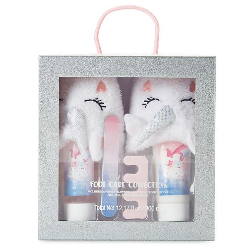 Unicorn Foot Care Collection Slippers Set