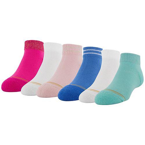 Girls GOLDTOE 6-Pack Glimmer Quarter Socks