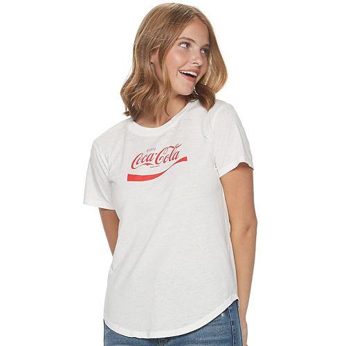 Juniors' Coca-Cola Logo Graphic Tee