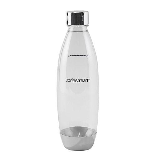 SodaStream 1-Liter Slim Metal Carbonating Bottle