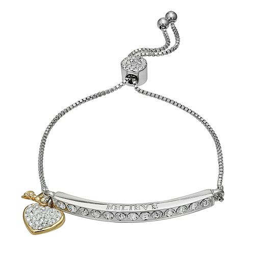"Brilliance ""Believe"" Bar Bracelet with Swarovski Crystal"