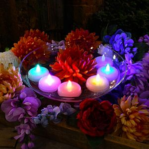 LumaBase Battery Operated Extra Large Color Changing Floating Candles (Set of 6)