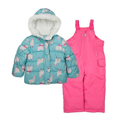 Baby Girl Carter's Llama Print Snowsuit