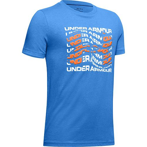 Boys 8-16 Under Armour Warped Big Logo Tee