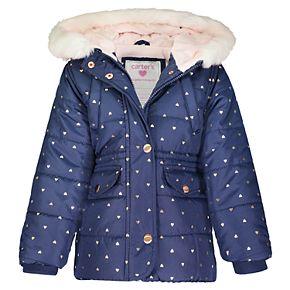 Toddler Girl Carter's Heavyweight Hooded Jacket