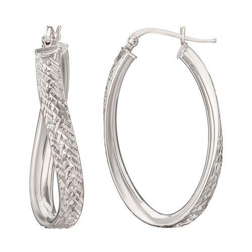 Silver Classics Sterling Silver Twist Earrings