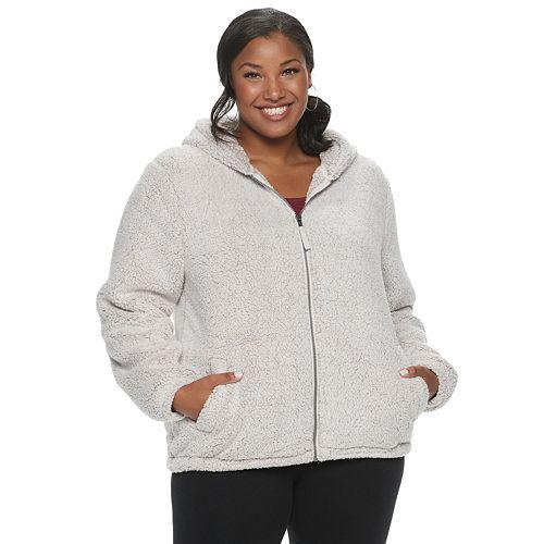 Juniors' Plus Size SO® Sherpa Full Zip Hoodie